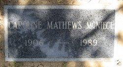 Caroline <I>Mathews</I> McNiece