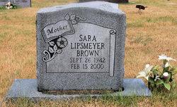 Sara <I>Lipsmeyer</I> Brown
