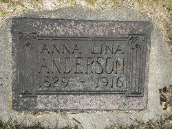 Anna Lina <I>Börjesdotter</I> Anderson
