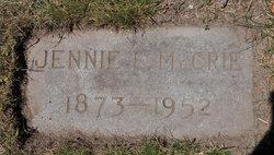 Jennie Eliza McCrie
