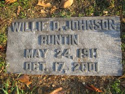Willie Davis <I>Johnson</I> Buntin