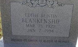 Edith <I>Buntin</I> Blankenship