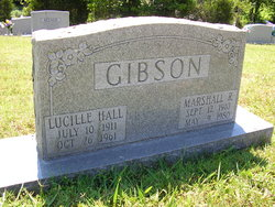 Lucille <I>Hall</I> Gibson