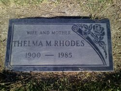 Thelma May <I>Laughlin</I> Rhodes