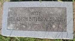 "Elizabeth Jane ""Betty"" <I>Bitler</I> Albrecht"