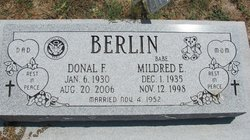 "Mildred Elizabeth ""Babe"" <I>Jennings</I> Berlin"