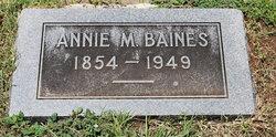 Annie <I>McIntosh</I> Baines