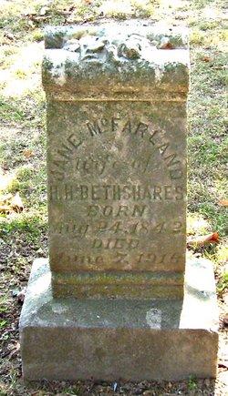 Jane <I>McFarland</I> Bethshares