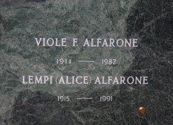 "Lempi Julia ""Alice"" <I>Nurmi</I> Alfarone"