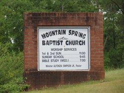 Mountain Spring Baptist Church Cemetery