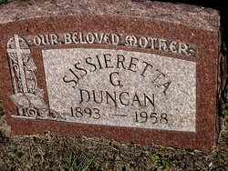 Sissieretta G Duncan