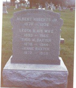 """Jane """"Jennie"""" <I>Roberts</I> Baxter"""