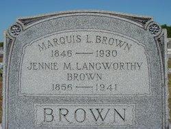 """Mary Jane """"Jennie"""" <I>Langworthy</I> Brown"""