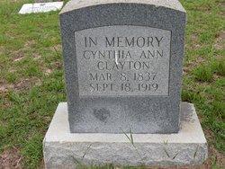 Cynthia Ann <I>Courtney</I> Clayton