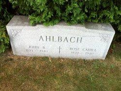 Rose <I>Cahill</I> Ahlbach