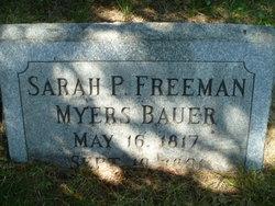 Sarah Permelia <I>Freeman</I> Bauer