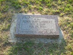 Alma <I>Ray</I> Lambert