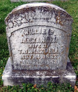 Willie B. <I>Alexander</I> Maxwell