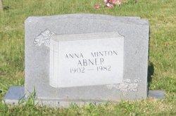 Anna <I>Minton</I> Abner