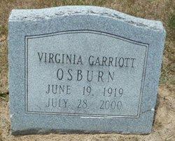 Virginia <I>Garriott</I> Osburn