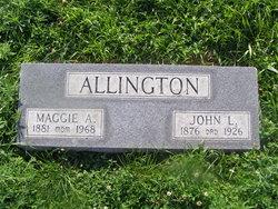 "Margaret Alice ""Maggie"" <I>Richardson</I> Allington"
