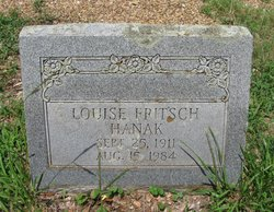Louise <I>Fritsch</I> Hanak