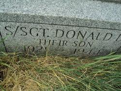Sgt Donald D. Jones