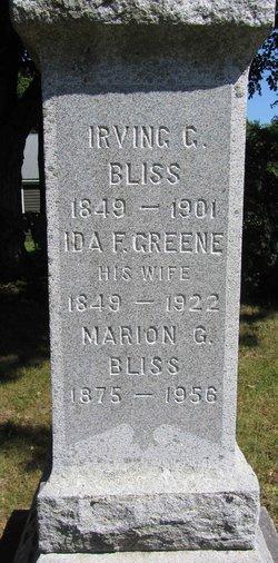 Ida Florence <I>Greene</I> Bliss
