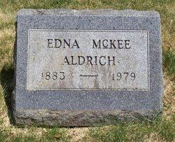 Edna <I>McKee</I> Aldrich