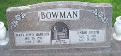 Junior Joseph Bowman