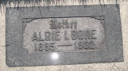 Algie Irene <I>Weaver</I> Bone