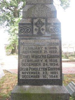 Delia <I>Pendleton</I> Gibson