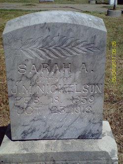 Sarah Ann <I>Scrivner</I> Nickelson