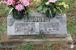 Culbert C Riddle