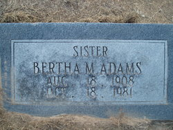 Bertha M. Adams