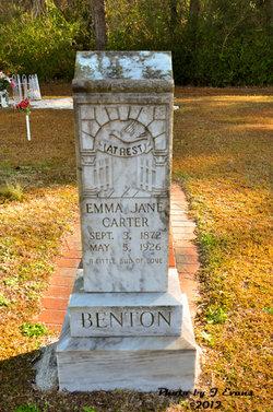 Emma Jane <I>Carter</I> Benton