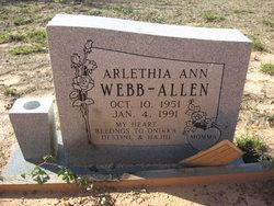 Arlethia Ann <I>Webb</I> Allen