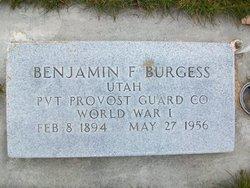Pvt Benjamin F. Burgess