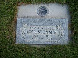Leah <I>Allred</I> Christensen