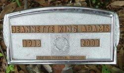 Jeanette <I>King</I> Adams