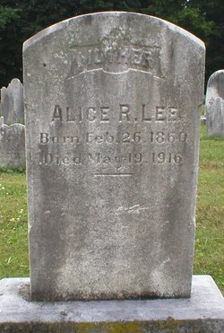 Alice R <I>Sweigart</I> Lee