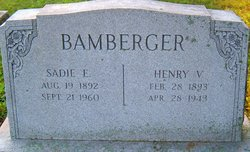 Sadie E <I>Bixler</I> Bamberger