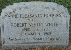 Anne Pleasants <I>Hopkins</I> White