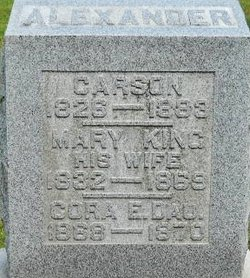 Mary <I>King</I> Alexander