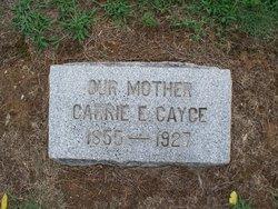 Carrie Elizabeth <I>Major</I> Cayce