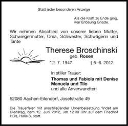 Therese <I>Rosen</I> Broschinski