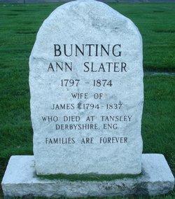 Ann <I>Slater</I> Bunting