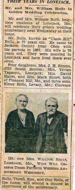 """Eliza Frances """"Lida"""" <I>Smith</I> Rolls"""