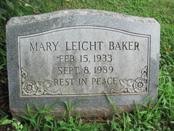 Mary <I>Leicht</I> Baker