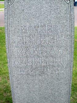 Esther <I>Ramsay</I> Albrecht